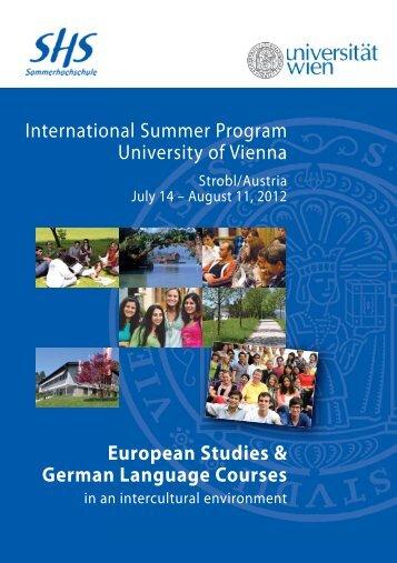 European Studies & German Language Courses - HKU