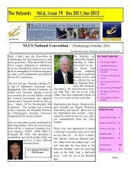 The Halyards Vol.6, Issue 19 Dec 2011/Jan 2012 - Navyleague ...