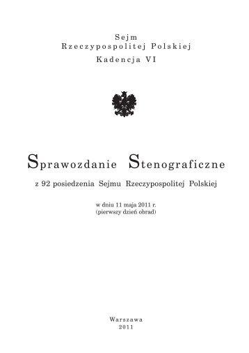 11 maja 2011 r. - Sejm Rzeczypospolitej Polskiej