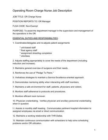 JOB DESCRIPTION Registered Nurse (0.6 FTE) - South East ...