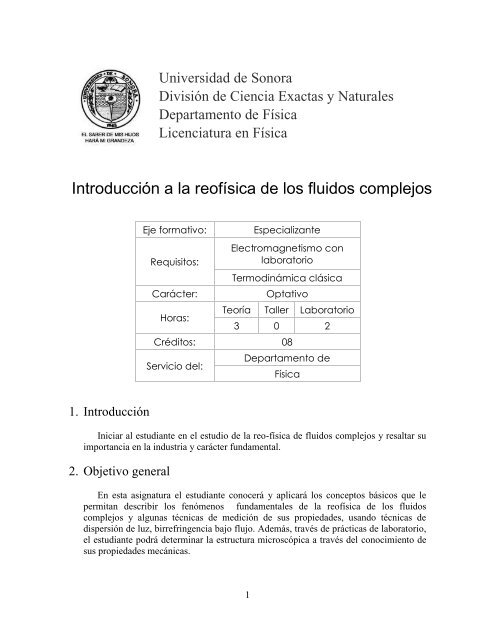 9814 Licenciatura En Física Universidad De Sonora