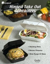 Hinged Take Out Containers - Genpak