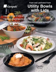 Utility Bowls - Foam And Plastic Utility Bowls With Lids - Genpak