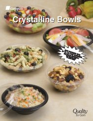 Crystalline Bowls - Plastic Bowls Made With Up To 40 ... - Genpak