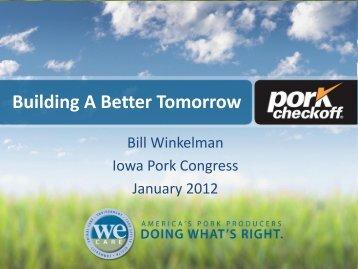 Pork Checkoff programs - Iowa Pork Producers Association