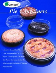 Pie Containers - Quality Black Pie Containers With Clear ... - Genpak