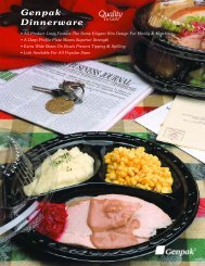 Dinnerware: Bowls And Plates In Both Plastic And Foam - Genpak