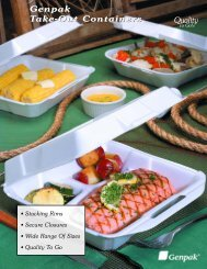 Take Out Containers - Genpak