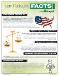 Foam Facts - Facts On Foam And Foam Products For Food - Genpak