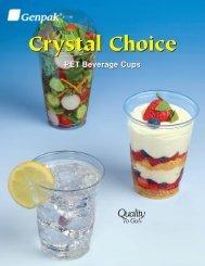 Crystal Choice PET Beverage Cups - Genpak