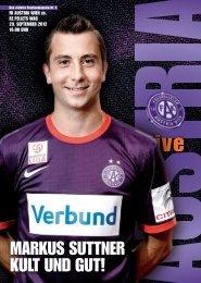 MARKUS SUTTNER KULT UND GUT! - FK Austria Wien