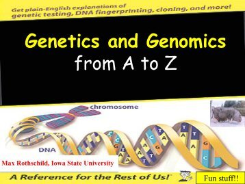 Genetics & Genomics: A to Z - Iowa Pork Producers Association