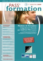 PASS' - AGEFOS PME Centre