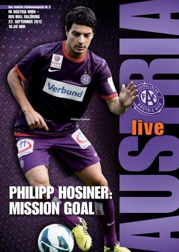 phIlIpp hOSINER: mISSION gOAl - FK Austria Wien