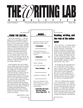 30.5 - The Writing Lab Newsletter