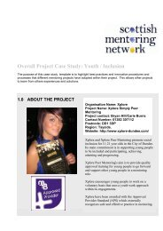 Overall Project Case Studyf - Scottish Mentoring Network