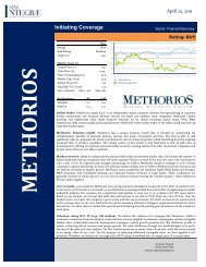 Initiating Coverage - Team - Methorios Capital