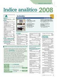 Indice analitico 2008 - L'Informatore Agrario
