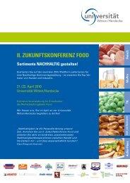 II. ZukunftskonferenZ food - ZNU- Zentrum für Nachhaltige ...