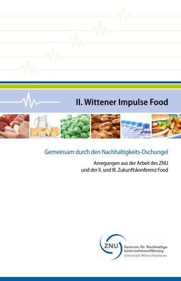 II. Wittener Impulse Food - ZNU- Zentrum für Nachhaltige ...