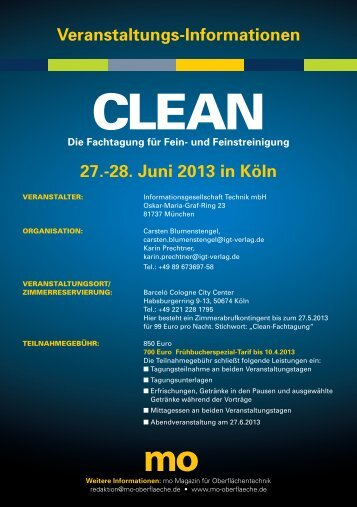 27.-28. Juni 2013 in Köln Veranstaltungs-Informationen - mo