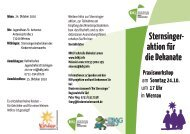 Sternsinger- aktion für die Dekanate - Jugendreferat-es-nt.de