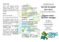 Das KjG Kurspaket 2011/2012 Gruppen leiten ... - Jugendreferat