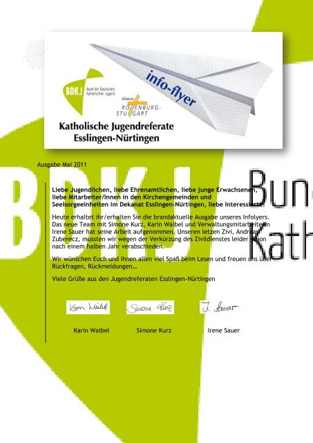 Ausgabe Mai 2011 Liebe Jugendlichen, liebe Ehrenamtlichen, liebe ...