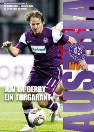 jUN Im DERby EIN ToRgARANT - FK Austria Wien