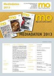 Mediadaten 2013 (1,6 MB) - mo - Magazin für Oberflächentechnik