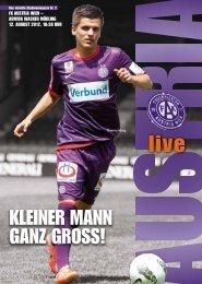 kleiNer maNN gaNz groSS! - FK Austria Wien