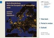 Berlin - Brandenburg - METREX - The Network of European ...