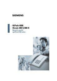 HiPath 4000 Hicom 300 E/300 H