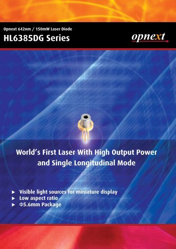 Projection laser flyer - Optomark