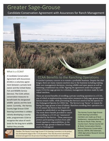 March 2012, Issue 1 - Harney County