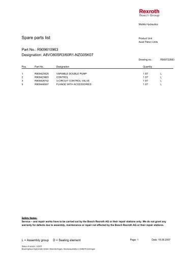 A8VO80SR3/60R1-NZG05K07 - DDKS Industries, hydraulic ...