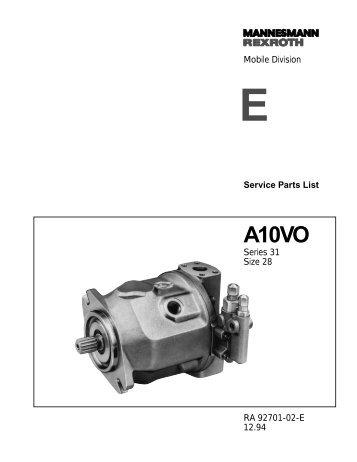 A10VO28 Series 31 - DDKS Industries, hydraulic components ...