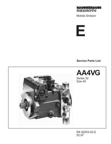 AA4VG40 Series 32 - DDKS Industries, hydraulic components ...