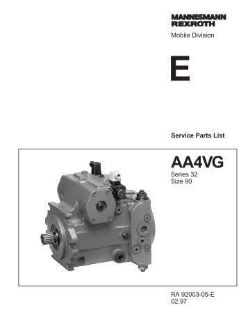 AA4VG90 Series 32 - DDKS Industries, hydraulic components ...