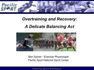 Overtraining and Recovery: A Delicate Balancing Act - Volleyball BC
