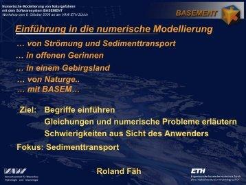 Einführung in die numerische Modellierung - Basement - ETH Zürich