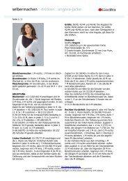 selbermachen : stricken : angora-jacke - Coats GmbH