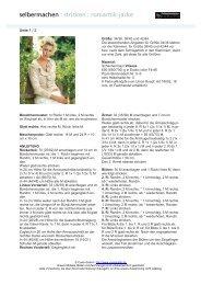 selbermachen : stricken : romantik-jacke - Coats GmbH