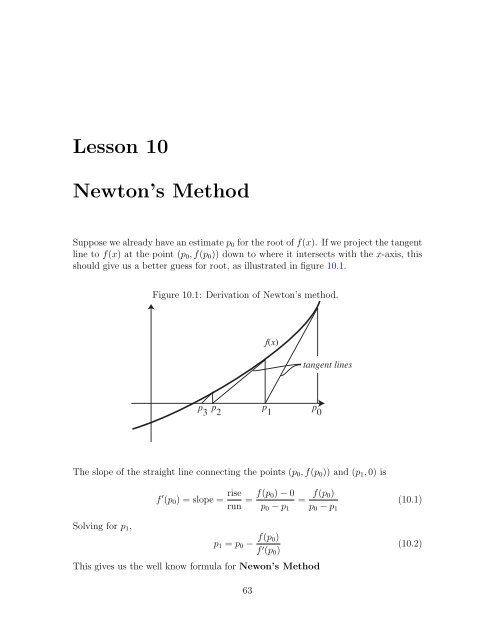 Lesson 10 Newton's Method - Bruce E  Shapiro