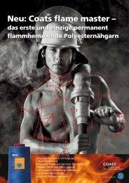 Neu: Coats flame master - COATS Industrie - Coats GmbH