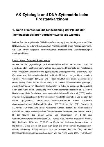 AK-Zytologie und DNA-Zytometrie beim Prostatakarzinom Univ.-Prof ...