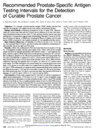 Recommended Prostate-Specific Antigen