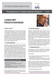 Prostatakrebs im fortgeschrittenen Stadium - Prostata-Selbsthilfe ...