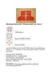 Hardangermuster für Nikolausstiefel von Annew