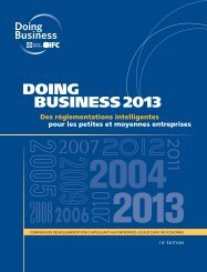rapport de Doing Business 2013